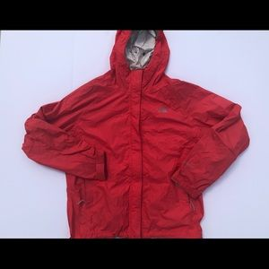 The North Face hooded zip up windbreaker